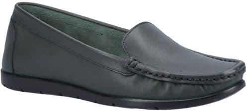 Fleet & Foster Tiggy Slip On Ladies Shoes Green